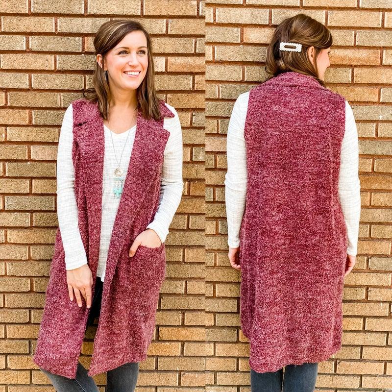 Textured Duster Vest *Final Sale*