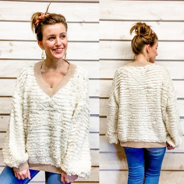 Cozy Cream Textured Sweater