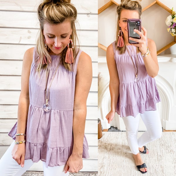 Lilac Tiered Tank