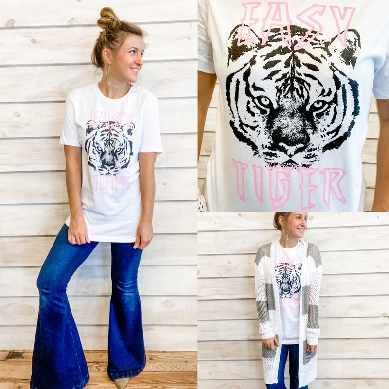 Pink and Black Easy Tiger Tee *Final Sale*