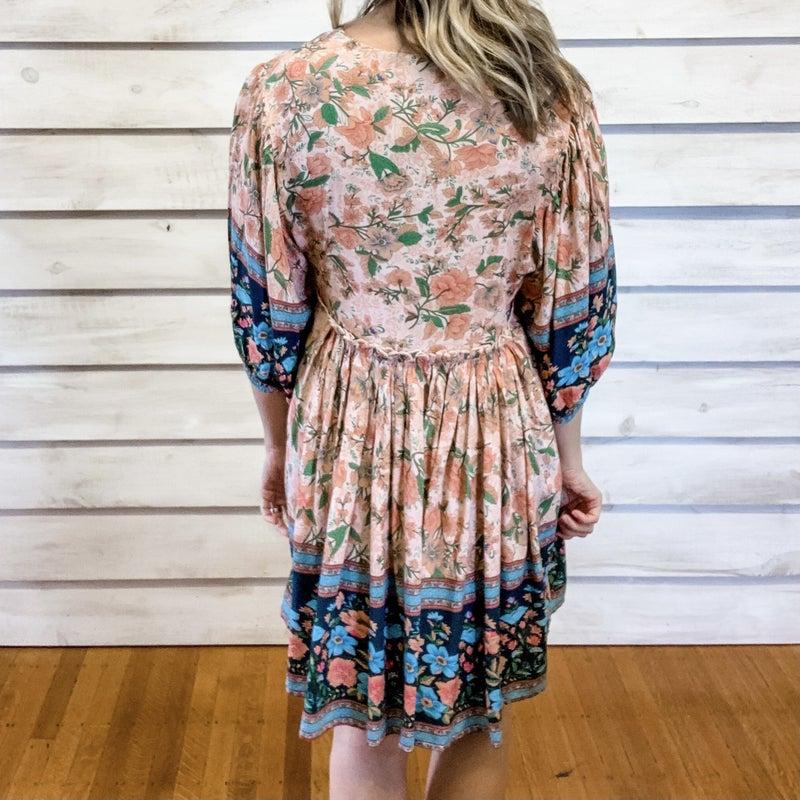 Blush Floral Flowy Dress
