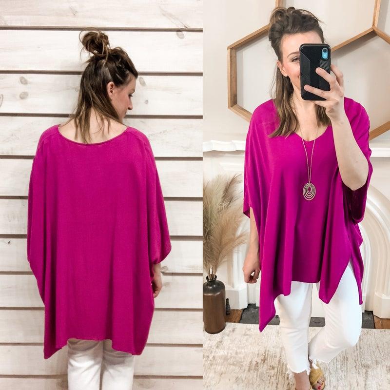Ultra Violet Flowy tunic