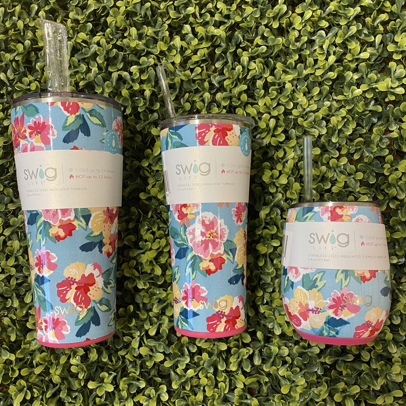 Flower Blooom Tumbler 14 oz *Final Sale*