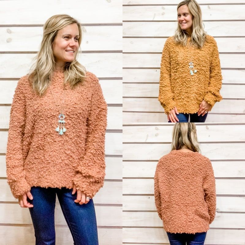 Soft and Fluffy Textured Sweater