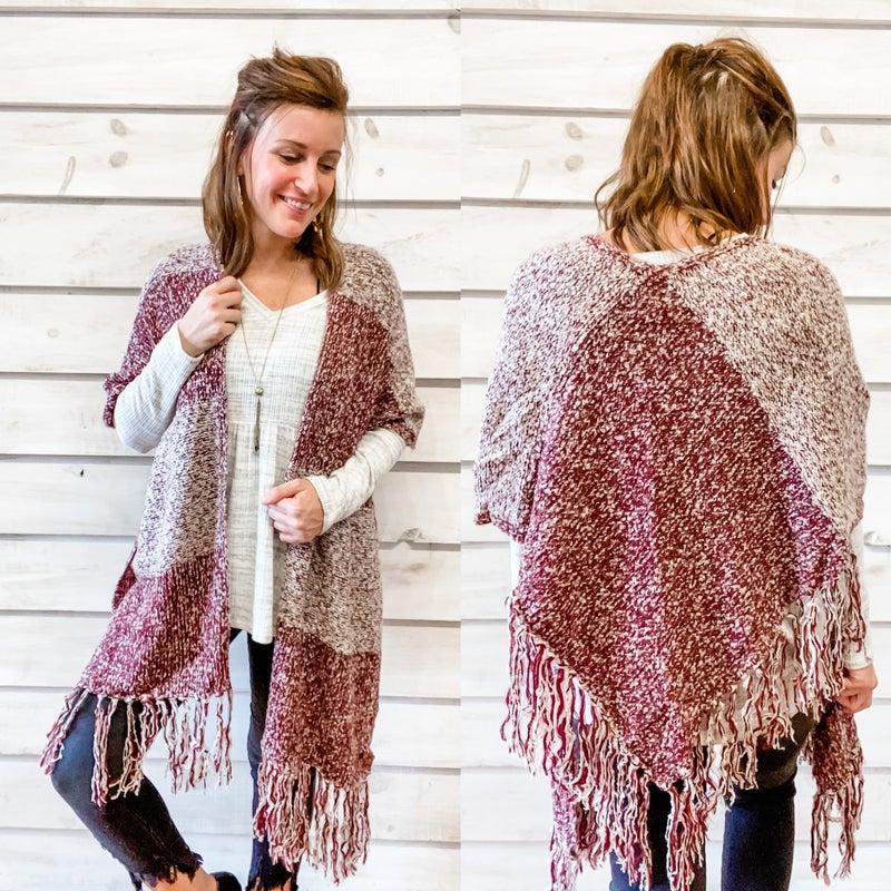 Fringe Shawl Kimono