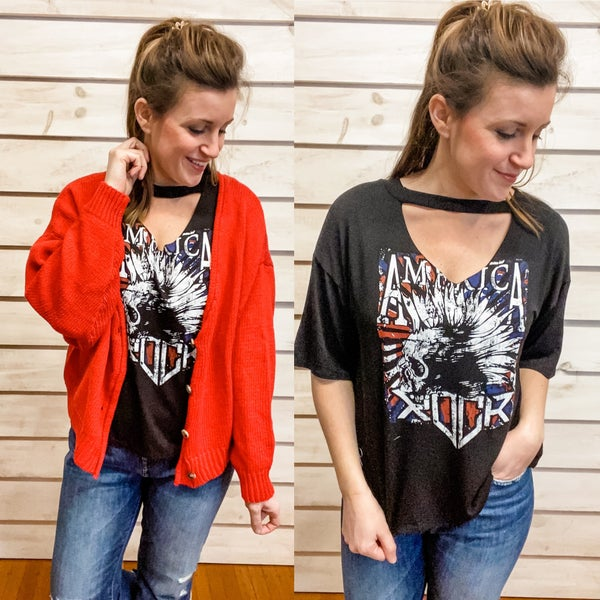 Cut Out Graphic Tee