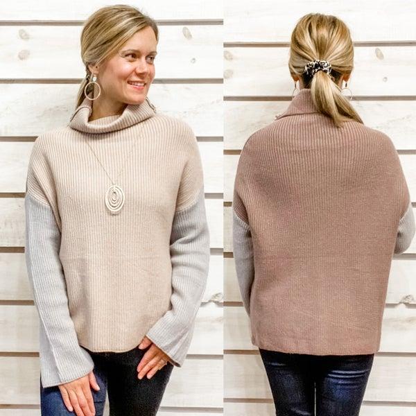 Super Cozy Color Block Sweater