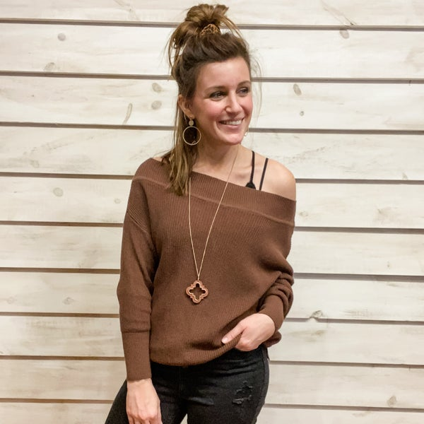 Brown Slouchy Sweater