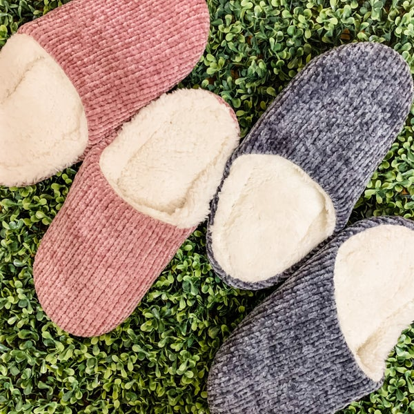 Cozy Sherpa Lined Slip On Slippers
