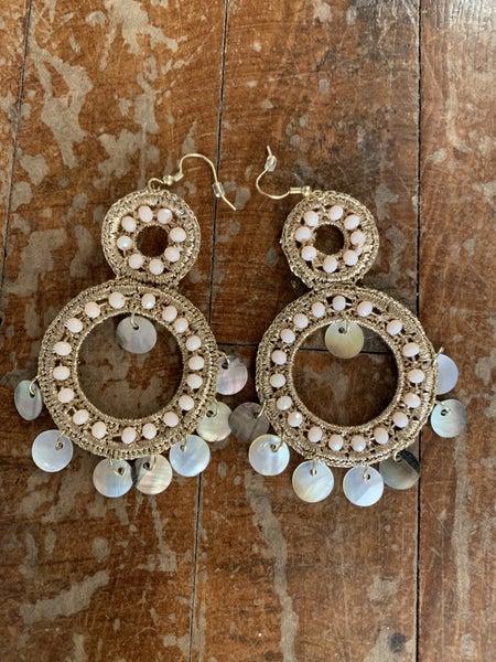 Rose Gold Wire Hoop Earrings