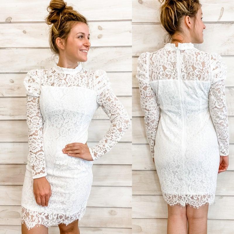 White Lace Dress *Final Sale*