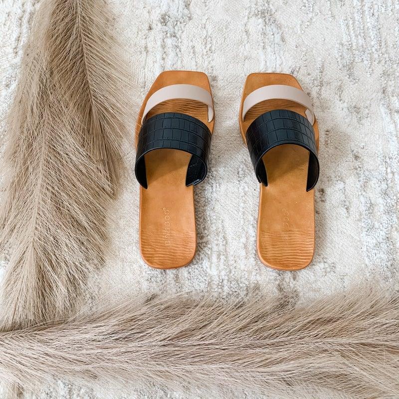 Black Strap Open Toe Sandal