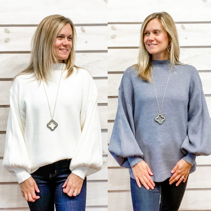 Puff Sleeve Cozy Sweater