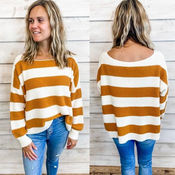 Mustard Striped Sweater