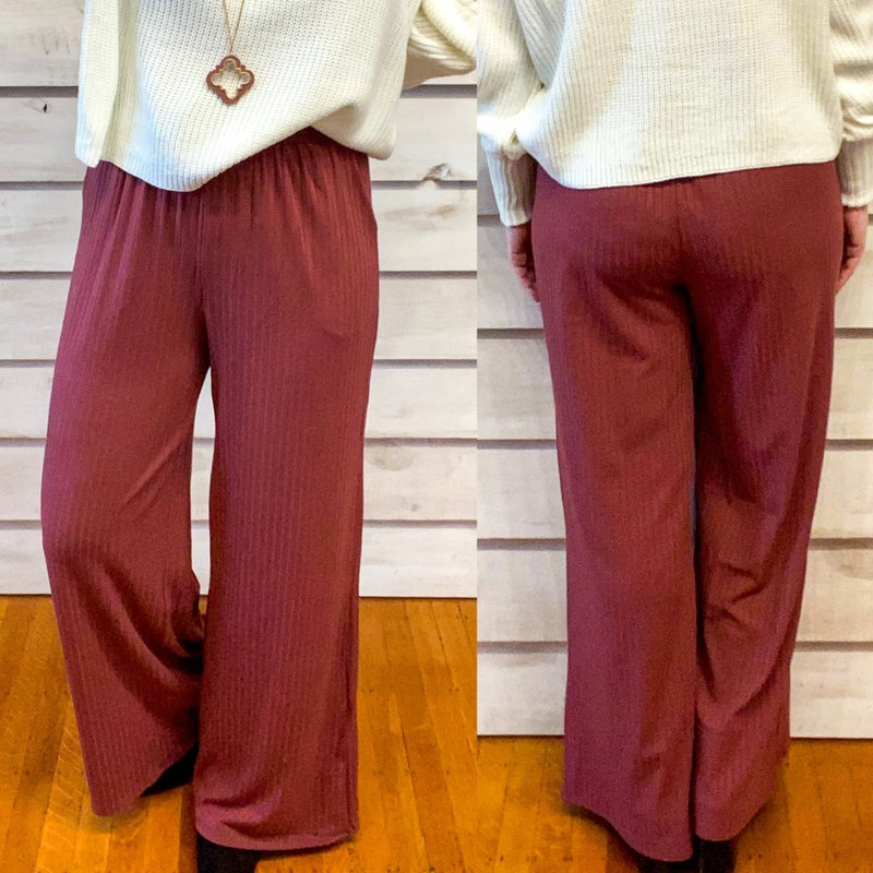 Red Bean Wide Leg Pants