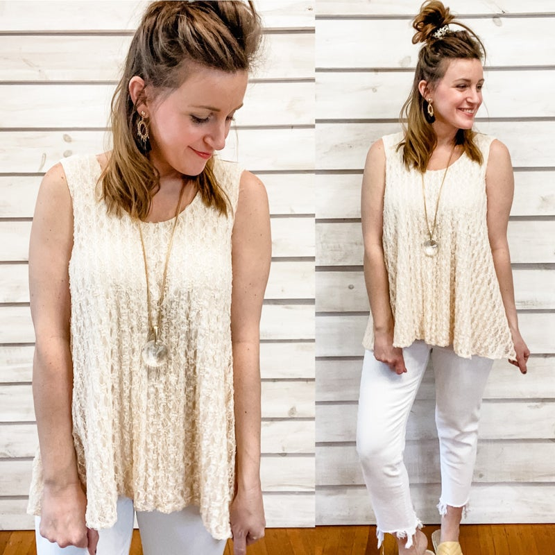 Cream Textured Swing Tank