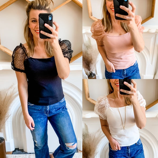 Puff Sleeve Top >Steal of a Deal< *Final Sale*