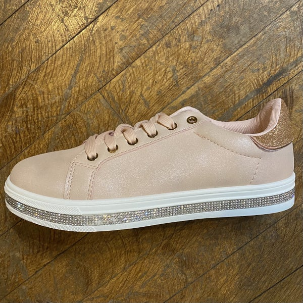 Rose Tennis Shoe with Sparkle Detail *Final Sale*