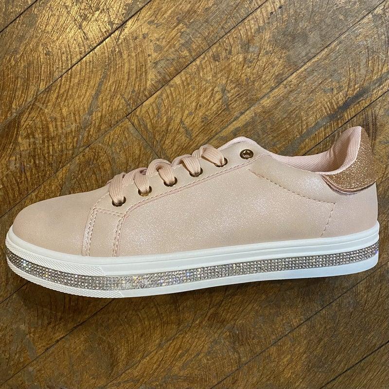 Rose Tennis Shoe with Sparkle Detail *Final Sale*