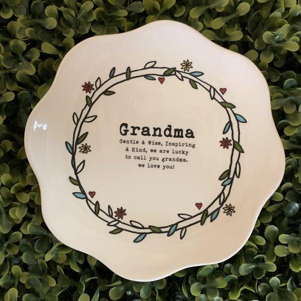 Grandma Scalloped Edge Dish *Final Sale*