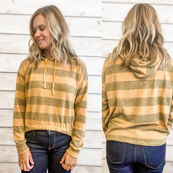 Mustard Hooded Tunic Top *Final Sale*