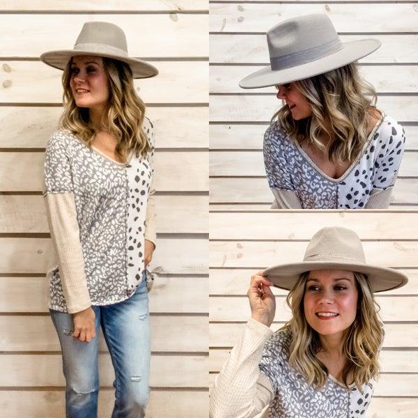 Grey Stiff Brim Hat *Final Sale*