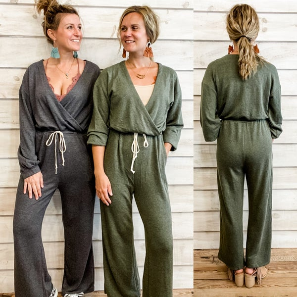Super Cozy Jumpsuit with Drawstring Waist