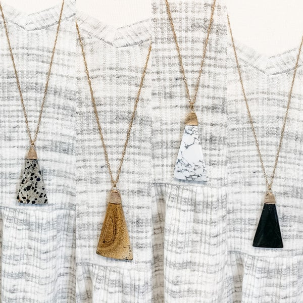 Triangle Shaped Stone Necklace