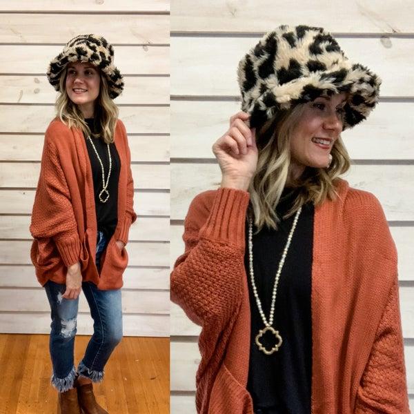 Leopard Sherpa Bucket Hat
