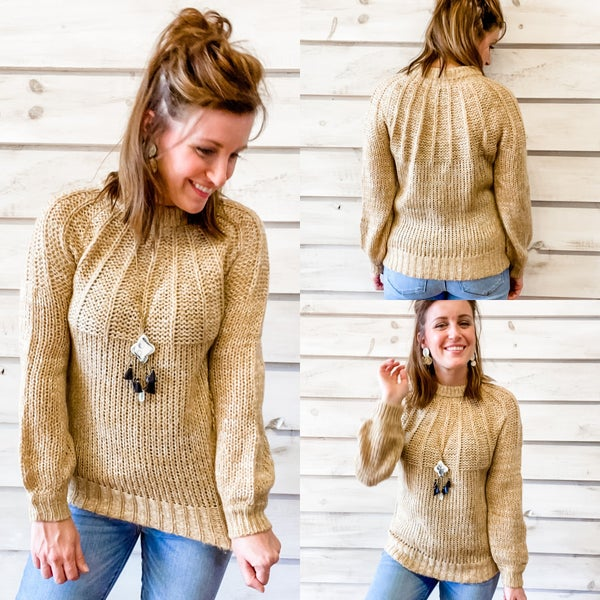 Honey and Cream Speckled Sweater