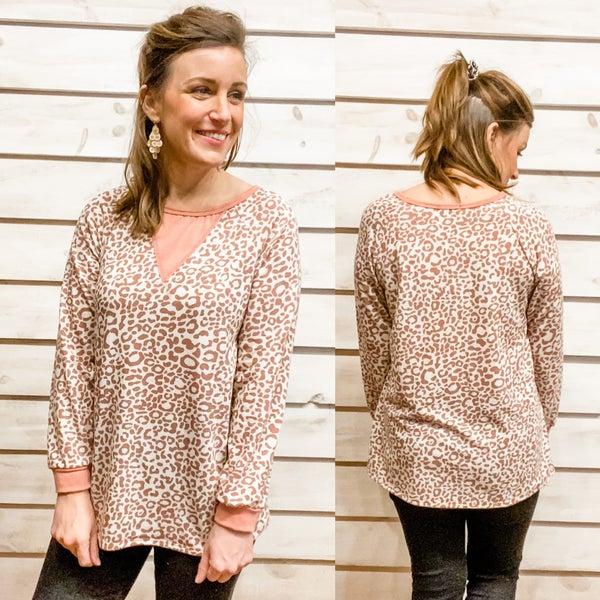 Blush Animal Print Long Sleeve Top