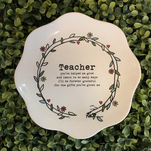 Teacher Scalloped Edge Dish *Final Sale*