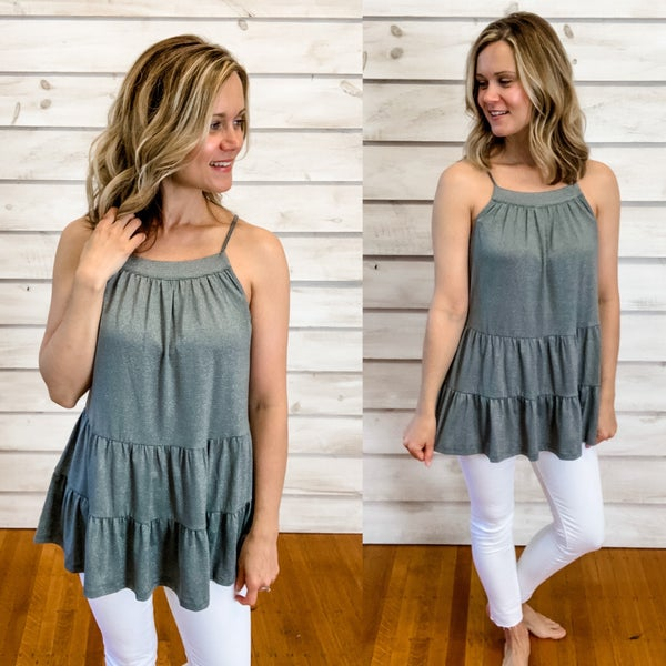 Green Tiered Tank