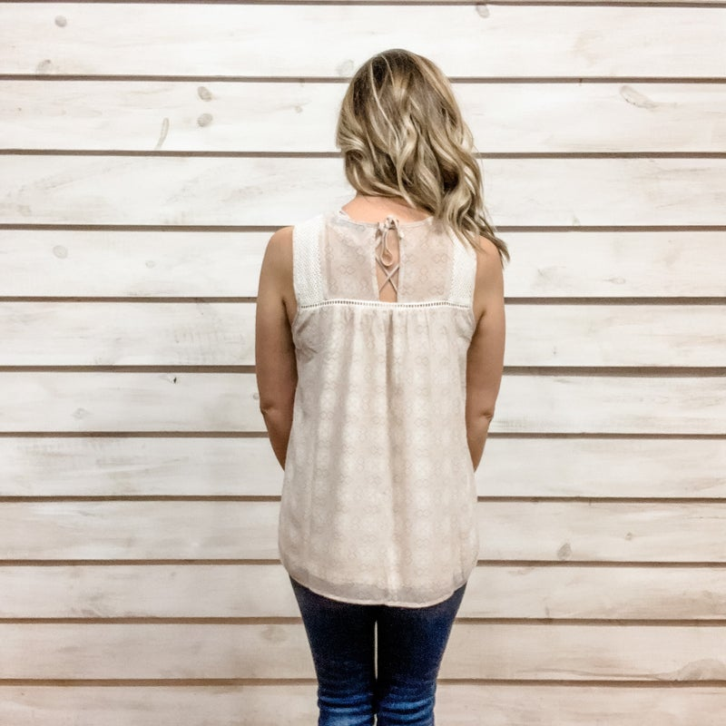 Blush Boho Pintuck Top