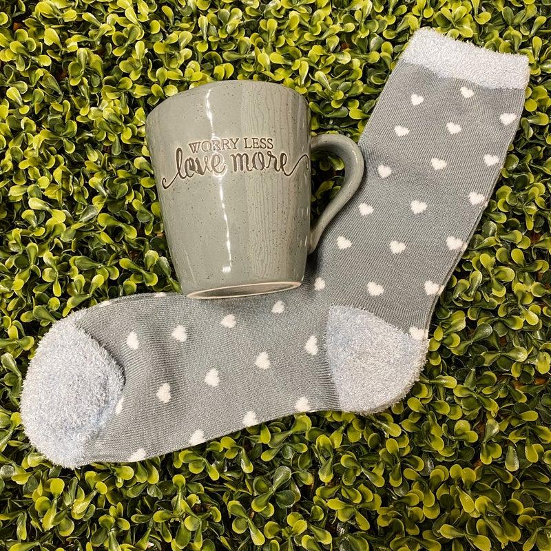 Worry Less Love More Mug & Socks Set *Final Sale*