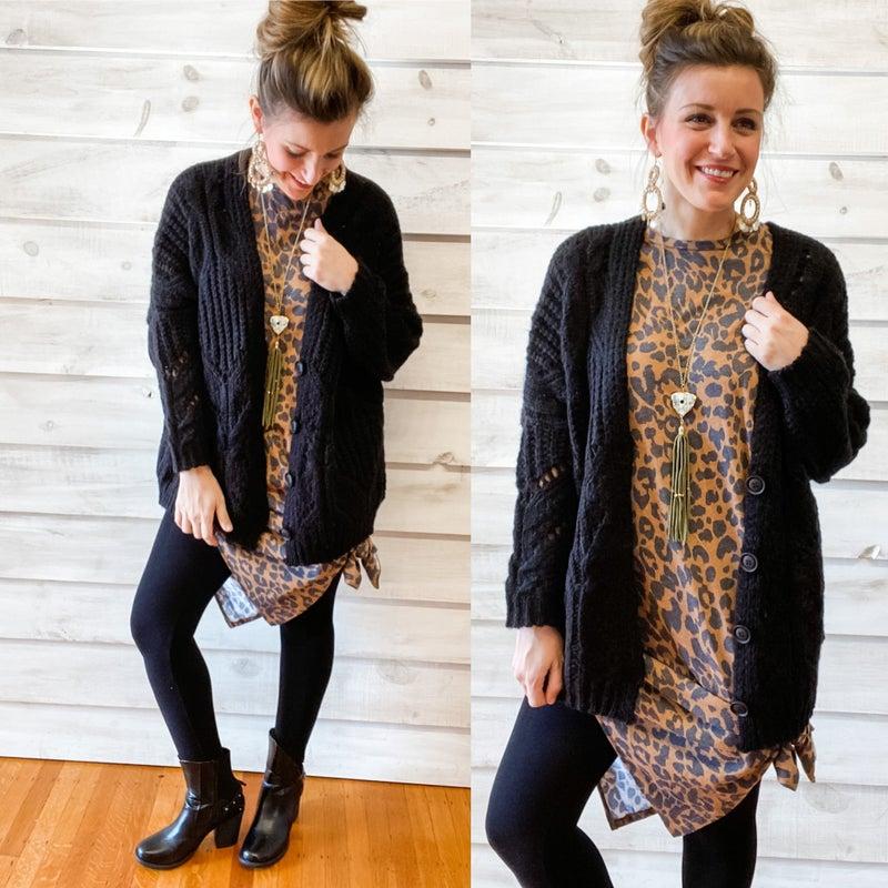 Animal Print Dress with Side Slit *Final Sale*