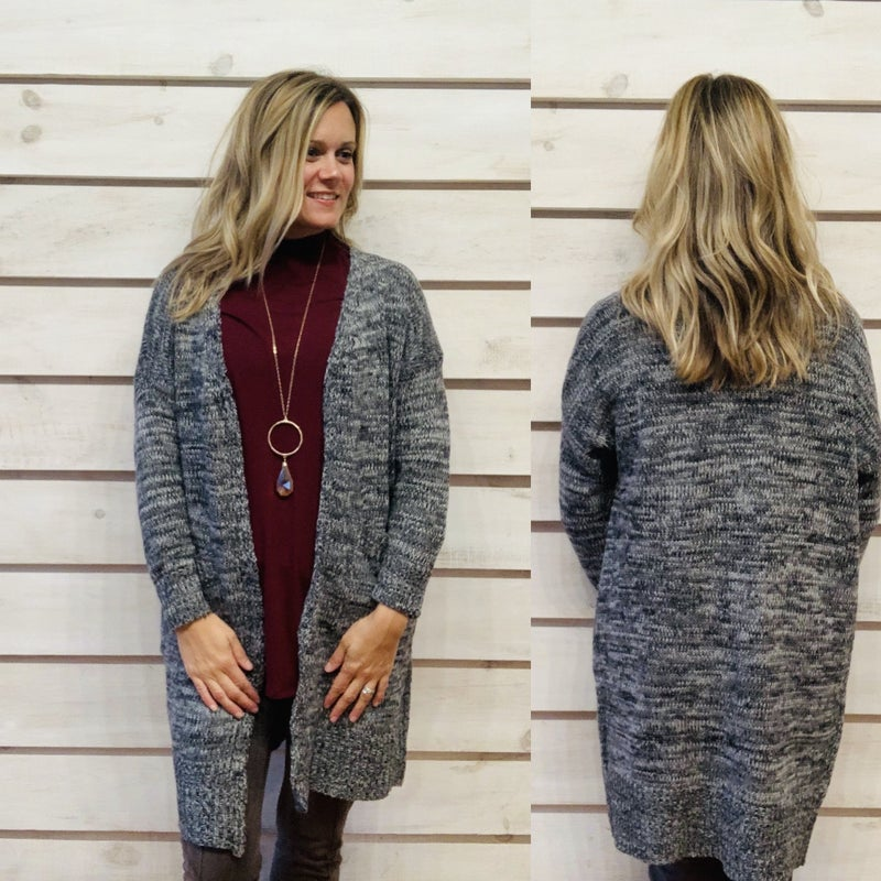 Charcoal Speckled Cardigan
