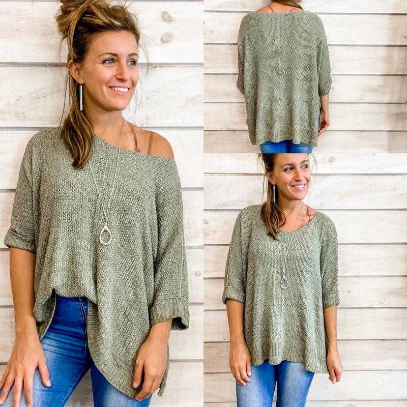 Perfect Sage Sweater *Final Sale*