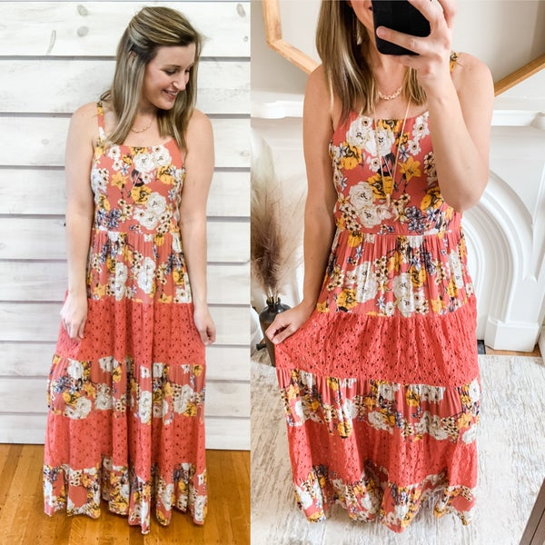 Floral Clay Maxi with Crochet Tiers