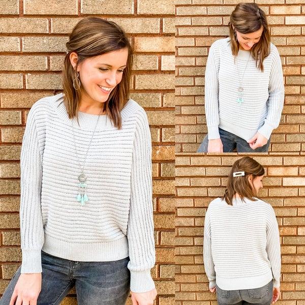 Lightweight Grey Sweater *Final Sale*