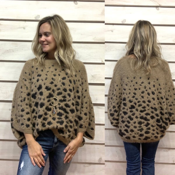 Super Cozy Animal Print Sweater Top