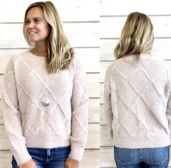 Mauve Sweater with Diamond Details *Final Sale*