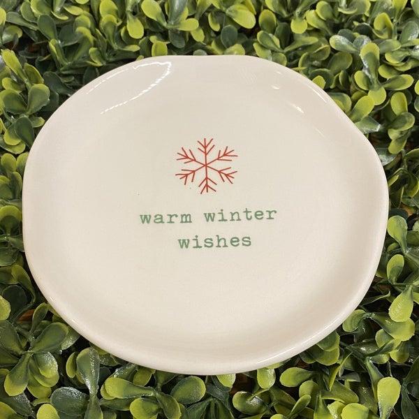 Warm Winter Wishes Dish *Final Sale*