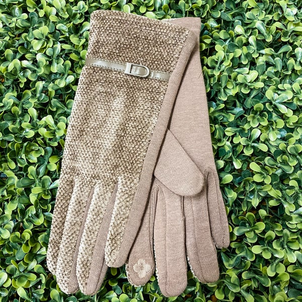 Super Soft Touchscreen Gloves with Belt Detail *Final Sale*