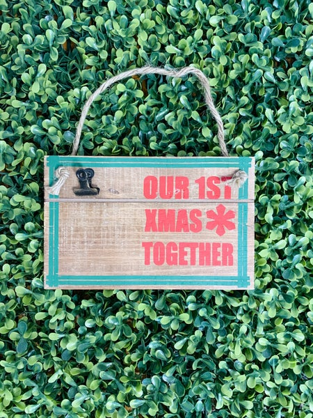 Our First Christmas Together Wooden Photo Ornament