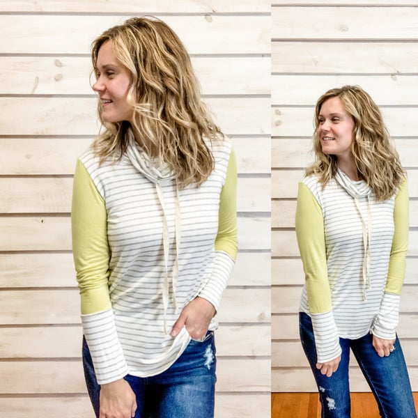 Striped Top with Lime Arms