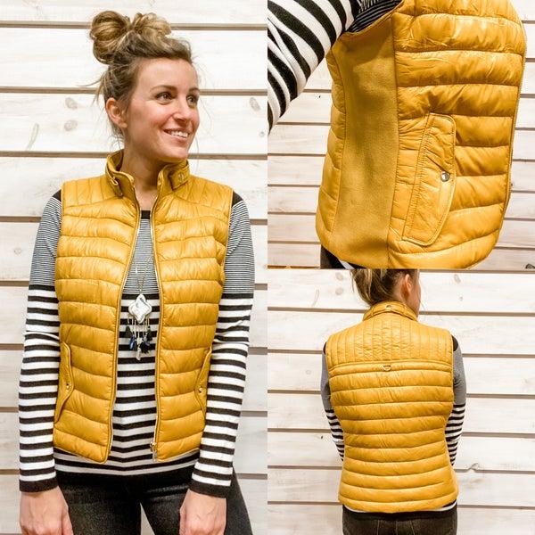 Mustard Puffer Vest *Final Sale*