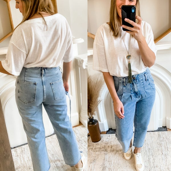 High Waisted Mom Jeans with Belt