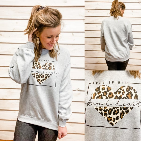 Free Spirit Kind Heart Cozy Sweatshirt