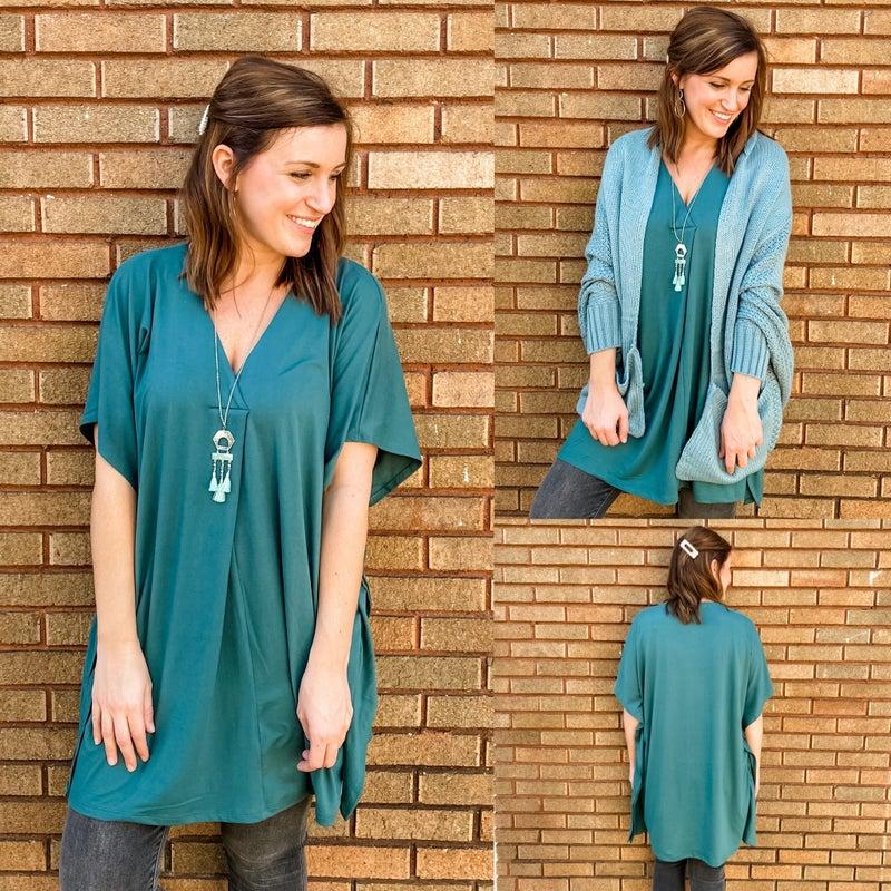 Forest Green Super Soft Tunic Dress *Final Sale*